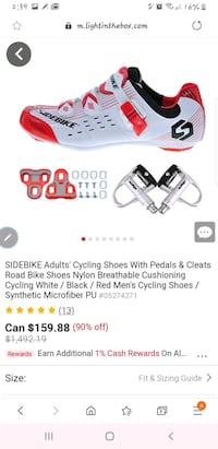 Sidebike shoes cleats brand new in box  Mississauga, L5J 4L3