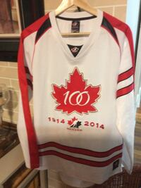 white, red and black NHL jersey