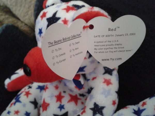 Ty Beanie Babies Red and Blue 10yrs 020cdd7f-f37d-409c-9868-baec39e48459