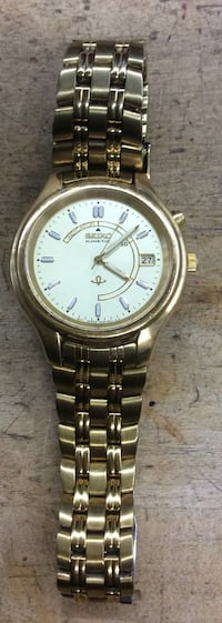 Seiko kinetic indicator I stainless steel watch gold tone 811190-1  Baltimore, 21205