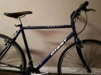 blue and black hardtail bike 3117 km