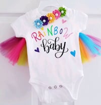 Custom 3 Piece Rainbow Baby Outfit Harpers Ferry, 25425