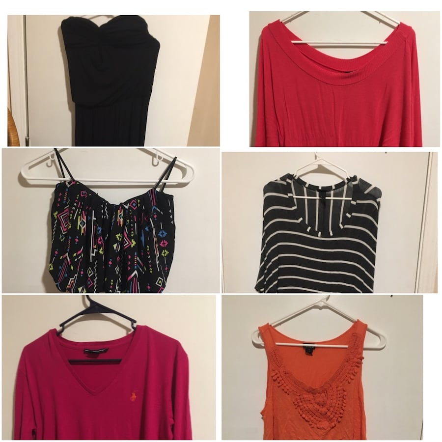 ladies assorted color tops collage b7875f02-878d-42a4-b685-2737cc7a96df