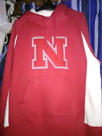 red and white Nike pullover hoodie Lincoln, 68507