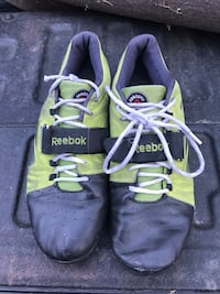 pair of gray-and-green Nike running shoes Meadow Vista, 95722