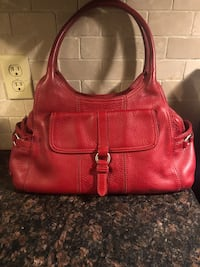 COLE HAAN RED LEATHER PURSE! Toronto, M1S