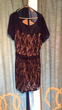Navy Blue and Tan lace dress size  24 Cranberry Township, 16066