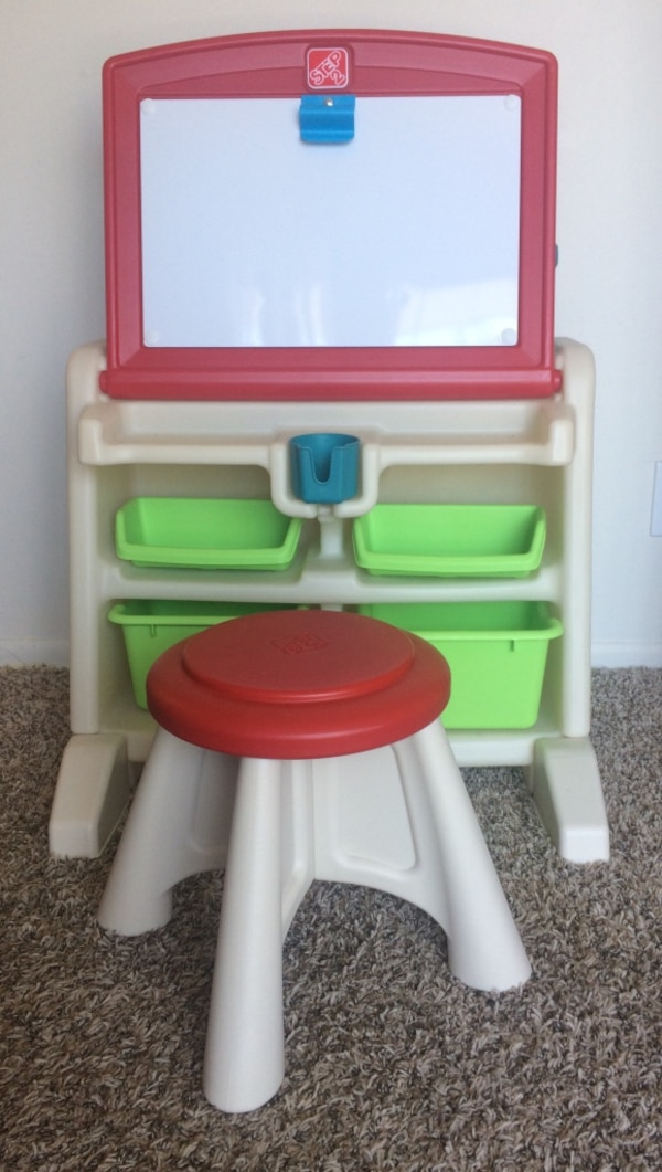 Astonishing Used Step2 Flip Doodle Easel Desk With Stool For Sale Caraccident5 Cool Chair Designs And Ideas Caraccident5Info