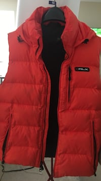 Red rlx bubble vest Waldorf