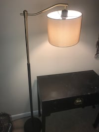 Black and gold floor lamp  Burke