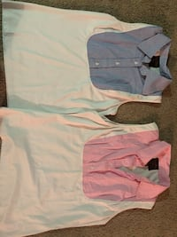 white and pink stripe dress shirt Londonderry, 03053