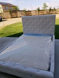 white and blue bed mattress Bakersfield, 93313