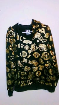 black and yellow floral print long-sleeved shirt Duluth