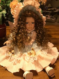 Beautiful Porcelain Doll with long dark curls Gainesville, 20155