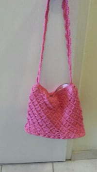 Pink crochet purse Kitchener, N2E 2K1