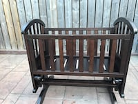 Rectangular brown wooden cradle