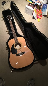 brown acoustic guitar with case Silver Spring, 20902