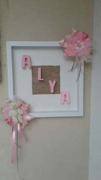 white and pink alya wall decor