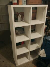 White cube organizer shelf