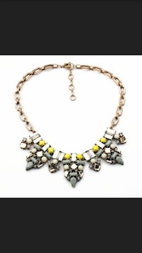 women's gold and silver bib necklace Germantown
