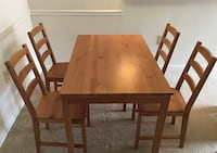 IKEA dining table with 4 chairs  Fairfax, 22030
