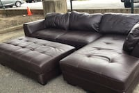 black leather tufted sectional sofa Fort Myer, 22211