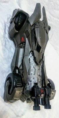 black and gray Batmobile toy