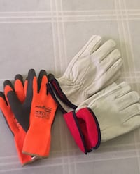Insulated working leather gloves and power grip thermo (Large Size) Albuquerque, 87109