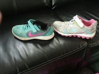 blue Nike and white-and-pink Sketchers shoes Fergus