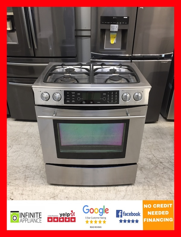 Used Jenn Air 30 Slide In Gas Stove Range With Dual Fuel 220v