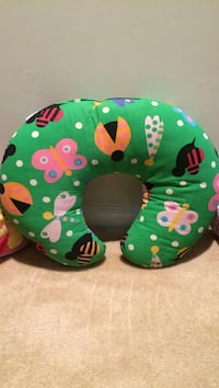 green orange pink white and red insects themed nursing pillow Ashburn, 20148
