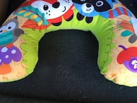 brown and green animal print neck pillow Woodbine, 21797