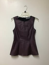 Women's pleather top… Zips up the back… Size medium