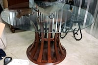 brown wooden framed glass-top table Virginia Beach, 23464