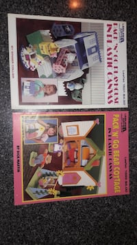 2 Pack and go plastic canvas books
