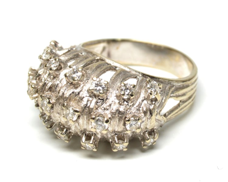Vintage Diamond Dome Ring c17be384-6914-41f3-8443-a6e21af0dd88