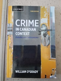 Crime In Canadian Context by William O'Grady book
