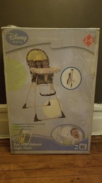 Disney baby flat fold deluxe high chair box