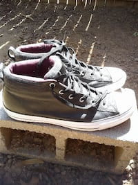 Converse Chuck Taylor All Star Street Black Leather/Dark Sangria/White Size:13M Phoenix