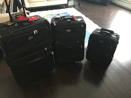 American tourister 3 piece rolling luggage