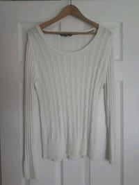 White med ladies  cableknit sweater  Hamilton, L8V 1W4