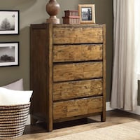 Better Homes and Gardens Bryant 5-Drawer Dresser, Rustic Brown Finish ,SKU# 44043-D Santa Fe Springs