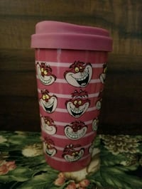 Disney Cheshire Cat ceramic travel mug.  Whitby, L1P 1A2