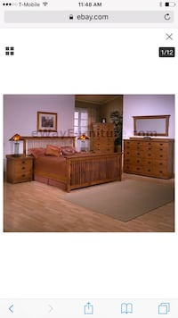 High quality oak mission Queen Bedroom set Woodbridge, 22191