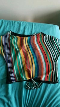 two red-and-blue stripe throw pillows Montreal, H2R