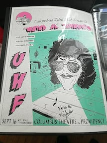 Autographed by weird al uhf poster