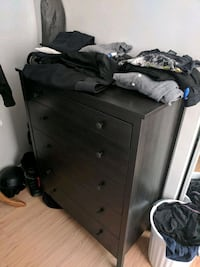 black wooden dresser with mirror Vancouver, V6C 1X6