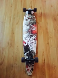 white and black Sector Nine pintail longboard Saskatoon, S7M 5H3