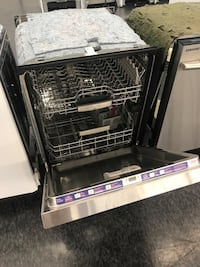 white and black Frigidaire dishwasher Toronto, M3J
