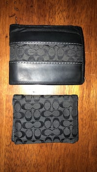 Coach bifold wallet (authentic)two monogrammed black-and-gray Bolivar, 44612